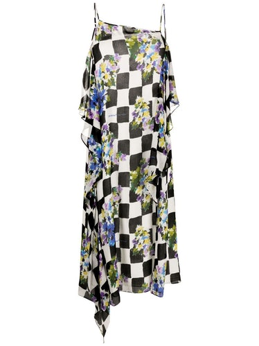 Off-White checkerboard floral-print slip dress $1,15650% Off$578