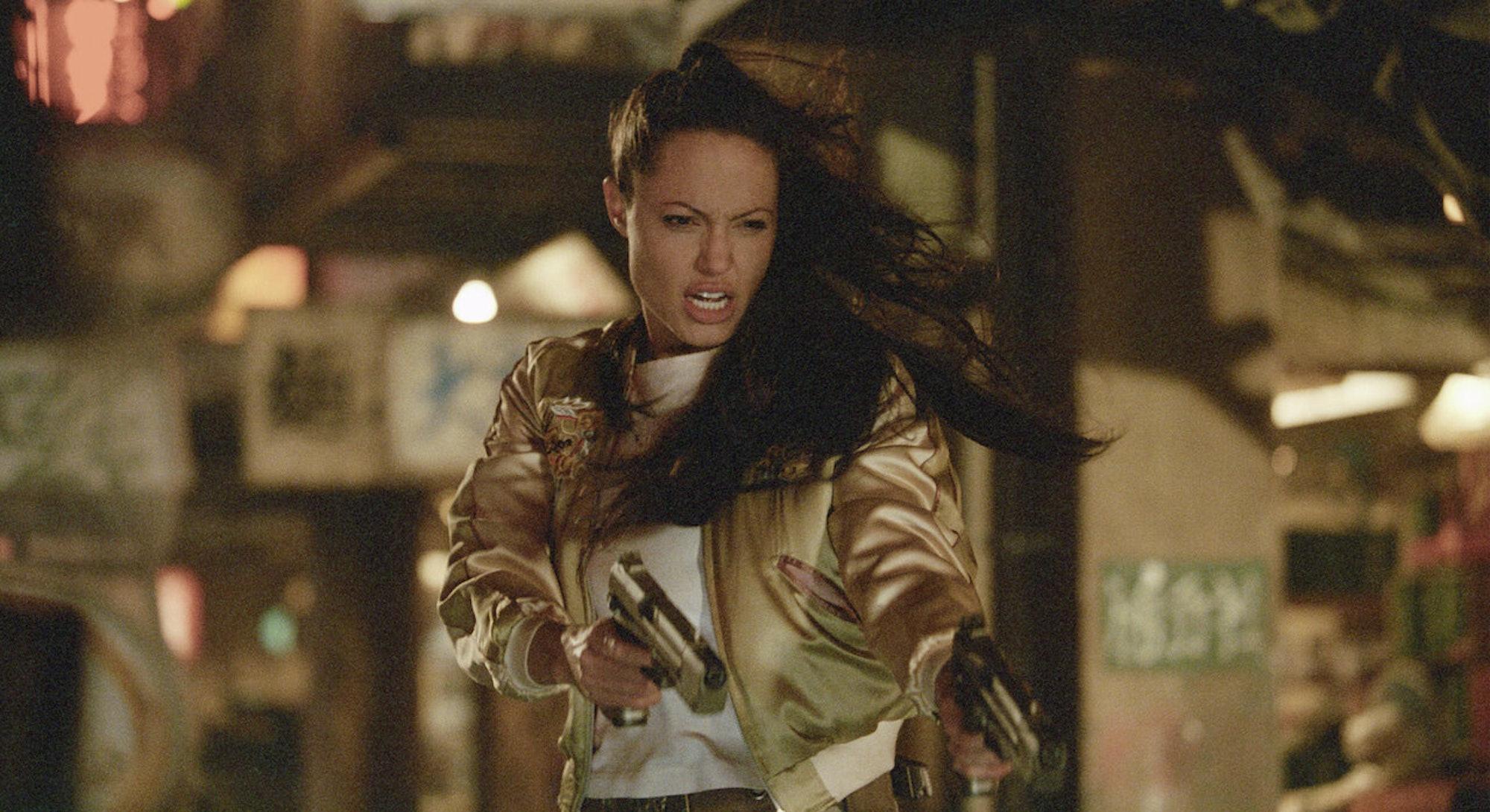 Angelina Jolie in screenshot from Lara Croft Tomb Raider The Cradle of Life movie