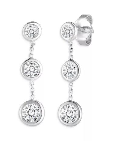 Roberto coin 18K White Gold Diamond Drop Earrings