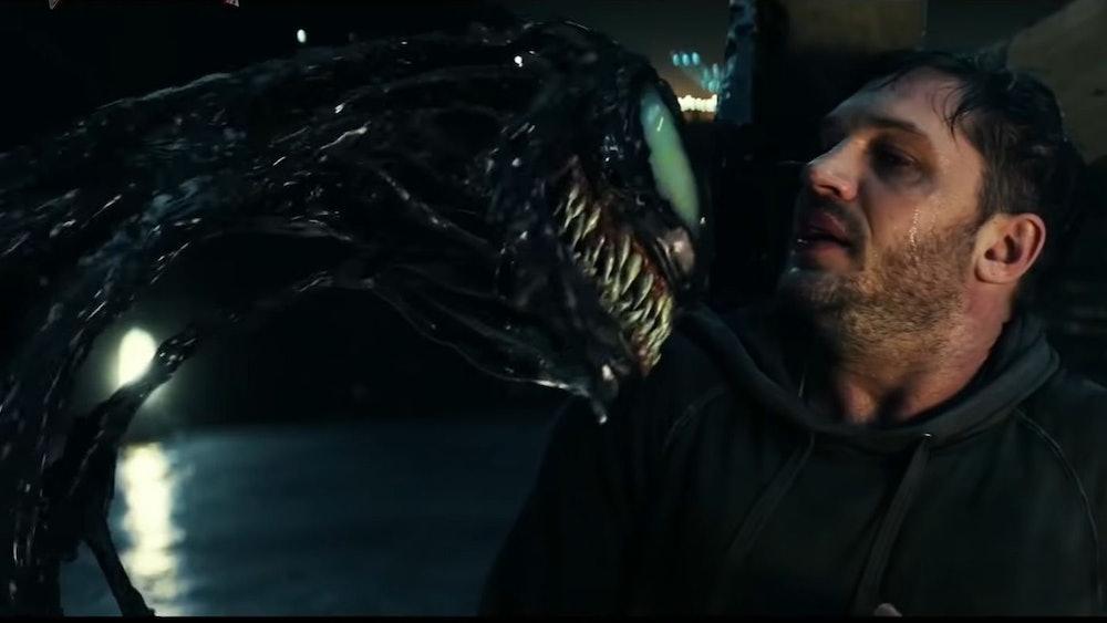 Venom gets in Eddie's face
