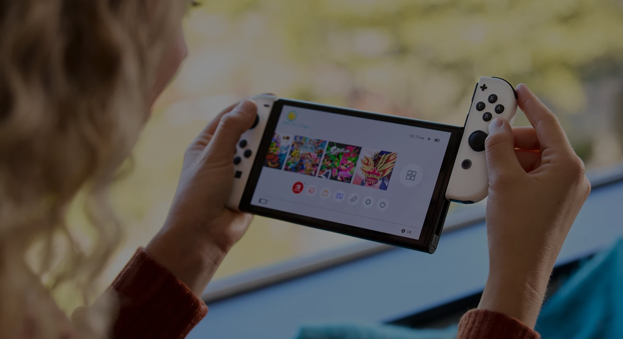 Nintendo Switch in use