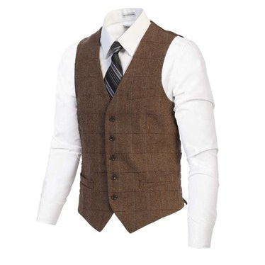 Dr. Nicky wears a tweed vest on 'You.'