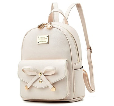 Bowknot  Leather Backpack