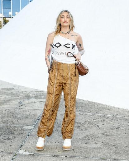 Paris Jackson at the Stella McCartney Spring 2022 show during Paris Fashion Week.