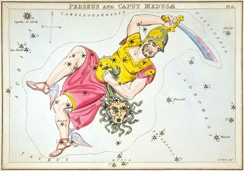 Perseus constellation astrological map