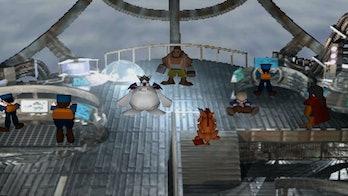 ff7 remake airship barret cait sith