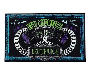 These Halloween doormats include a 'Beetlejuice' option.