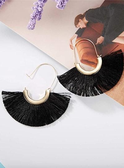 Hoop Earrings Lightweight Semi Circle