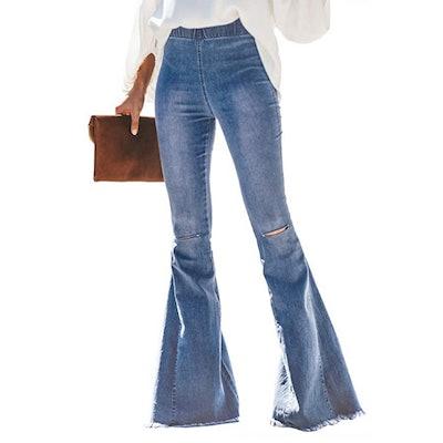 Paitluc Stretch Flare Jeans