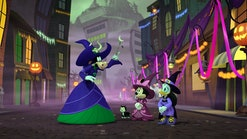 Minnie Mouse and Daisy Duck play two witches-in-training in 'Mickey's Tale of Two Witches.'