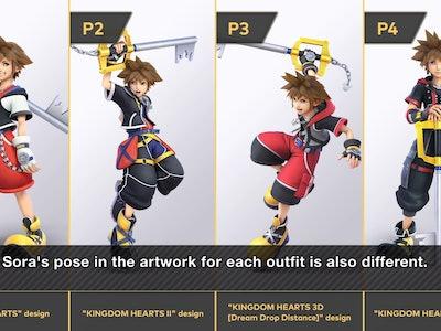 Sora's various looks
