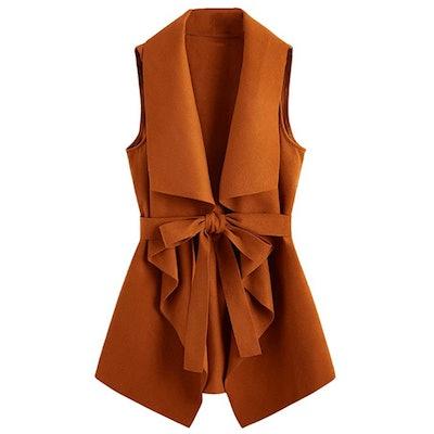 SheIn Plus-Size Belted Vest
