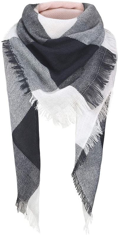 American Trends Plaid Scarf