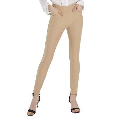 Ginasy Pull-On Ponte Dress Pants