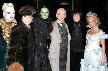 Adams with Liza Minelli and the cast of Wicked.