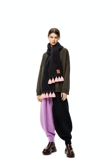 Intarsia Balloon Trousers
