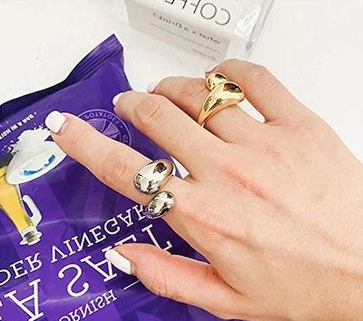 KURTCB Adjustable Teardrop Ring