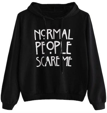 """Normal People Scare Me"" Halloween Sweatshirt"