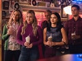 Betty (Lili Reinhart) and Veronica (Camila Mendes) hang out at Pop's in Season 5 of 'Riverdale.'