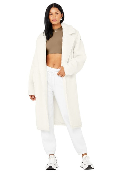 Ivory Sherpa Trench from Alo Yoga.