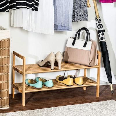 Honey-Can-Do Bamboo 2-Tier Shoe Shelf