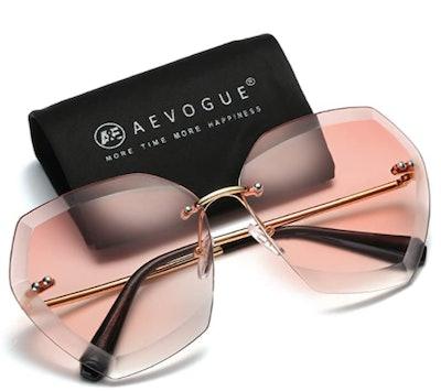 AEVOGUE Rimless Sunglasses