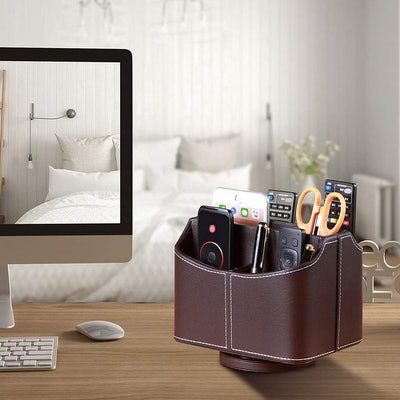 YAPISHI Leather TV Remote Caddy