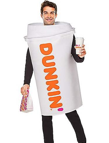 These Dunkin' Halloween costumes include the returning Hot Coffee cup ensemble.