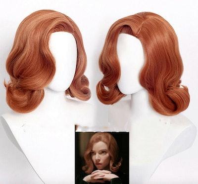 The Queen's Gambit TV Heroine Beth Harmon Wig Beth Lady Curly Cosplay Wig &