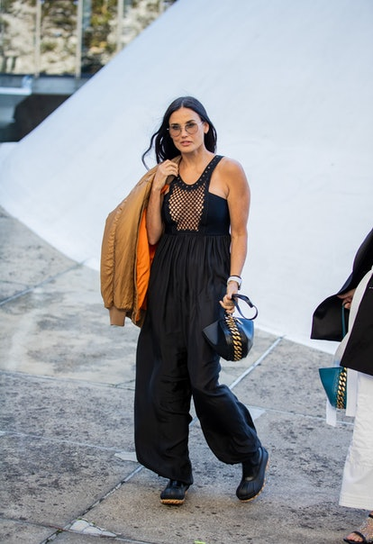 Demi Moore is seen outside Stella McCartney during the Paris Fashion Week - Womenswear Spring/Summer...