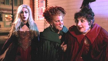 """Bette Midler as Winifred """"Winnie"""" Sanderson, Sarah Jessica Parker as Sarah Sanderson, Kathy Najimy a..."""