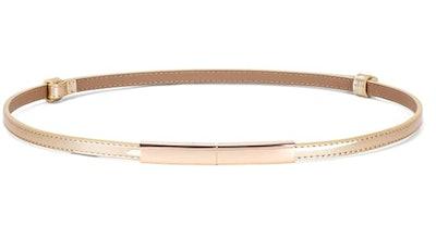 JASGOOD Women's Skinny Patent Leather Belt