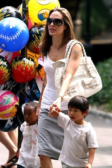 Zahara Jolie-Pitt, Angelina Jolie and Pax Jolie-Pitt