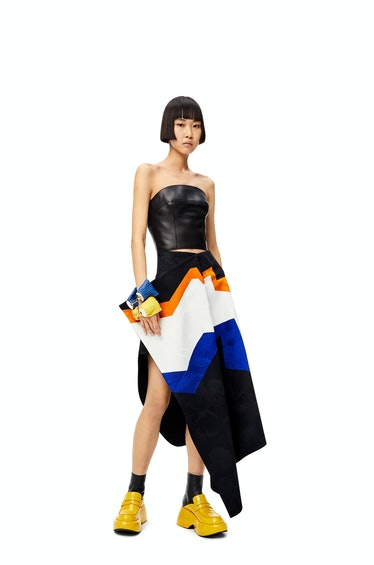 Jacquard Asymmetric Skirt
