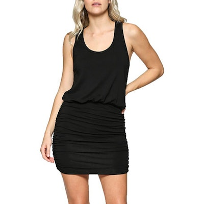 LaClef Ruched Tank Dress