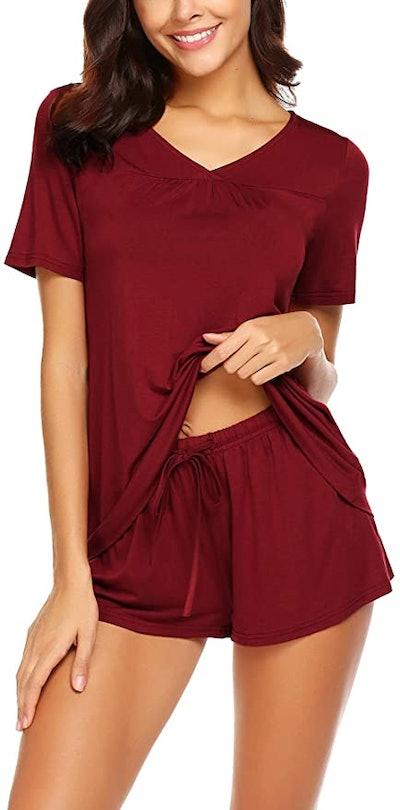 Avidlove Short Sleeve Tee and Shorts Pajama Set