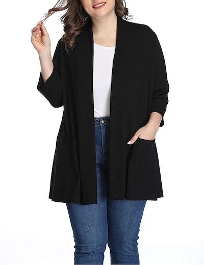 Shiaili Long Plus Size Cardigan