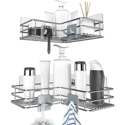 Nieifi Adhesive Corner Shower Caddy (2 Pack)