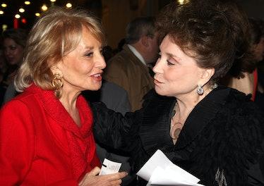 Adams with Barbara Walters.