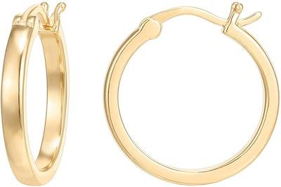 PAVOI 14K Gold Plated Hoop Earrings