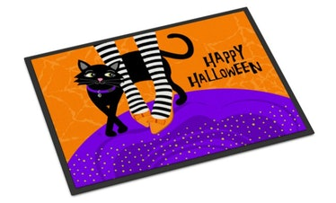 These Halloween doormats include classic options with witches and pumpkins.