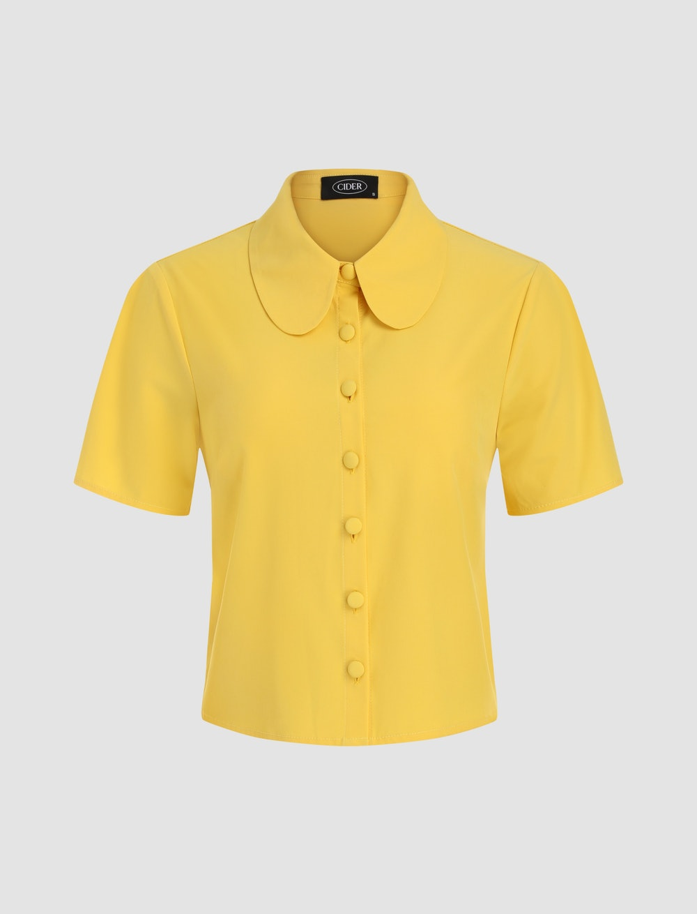 Solid Yellow Blouse