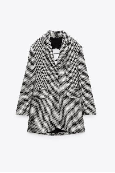 Zara's houndstooth blazer dress.