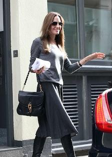 Angelina Jolie seen leaving a studio in Soho on September 8, 2011 in London, England