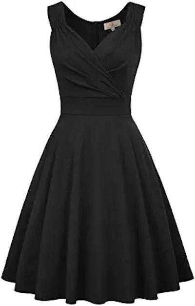 GRACE KARIN Retro V-Neck Pinup Dress