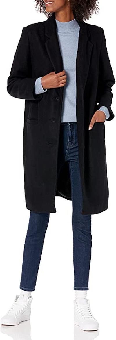 Amazon Essentials Oversized Plush Button-Front Coat