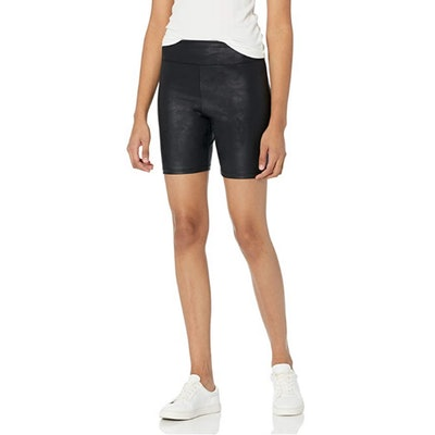 The Drop Jackie Leather Look Bike Shorts
