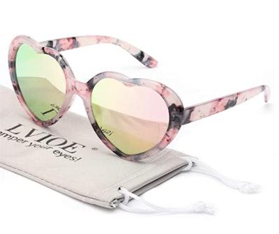 LVIOE Heart Shaped Sunglasses