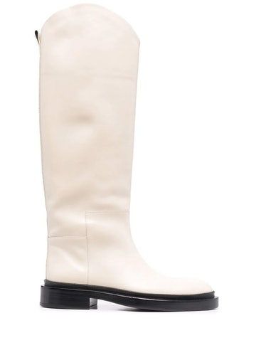 Knee-Length Leather Boots