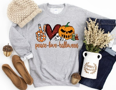 Peace Love Halloween Sweatshirt